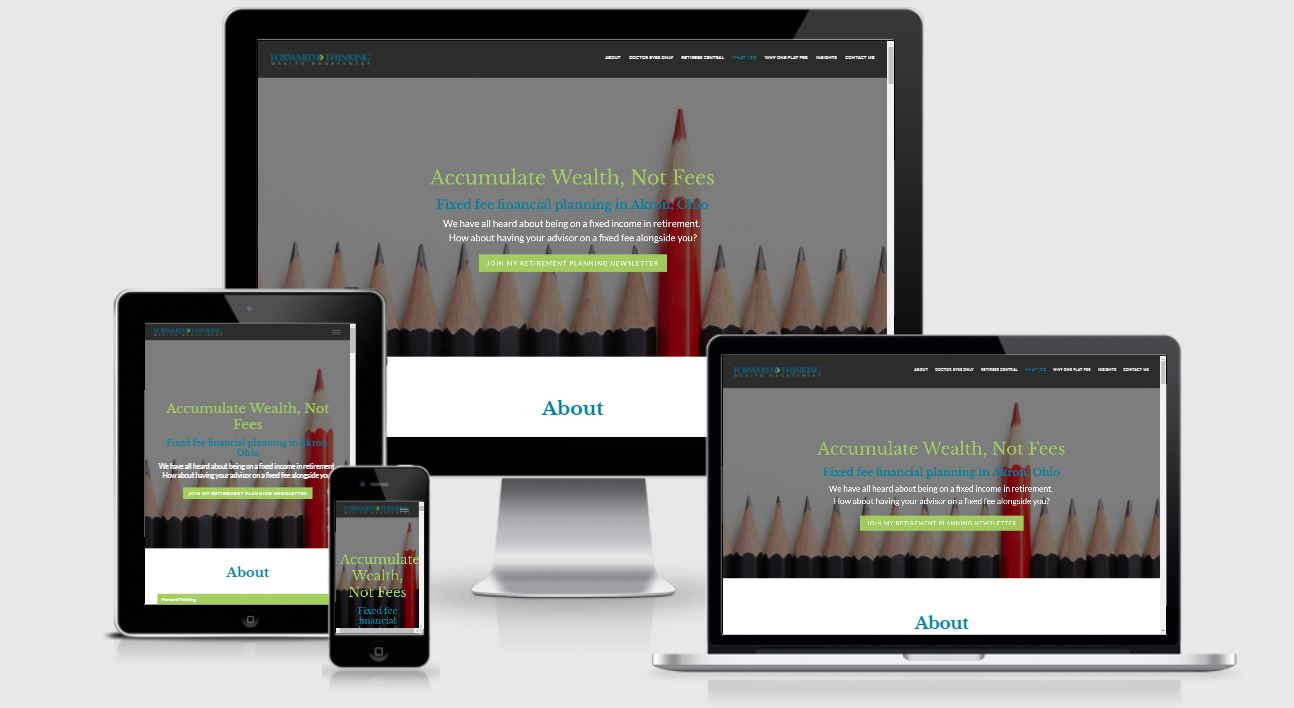 responsive advisor website forward thinking wm