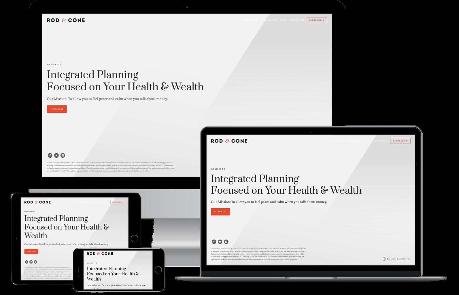websites for financial advisors by twenty over ten