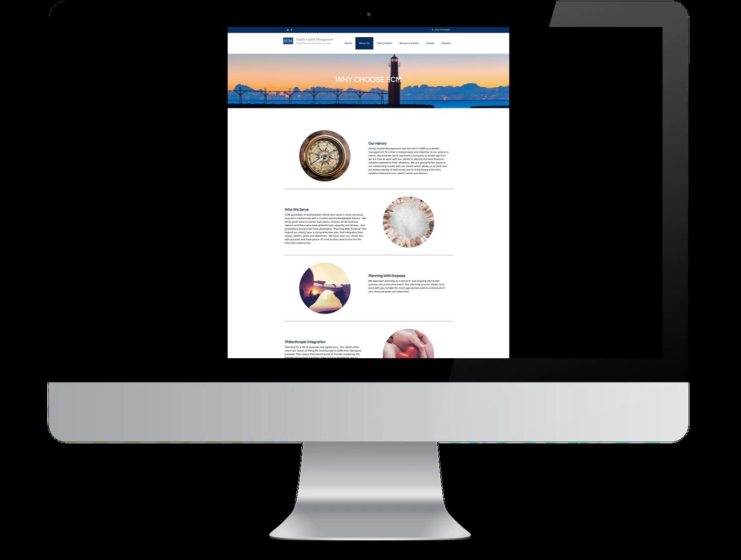 template-based financial advisor website