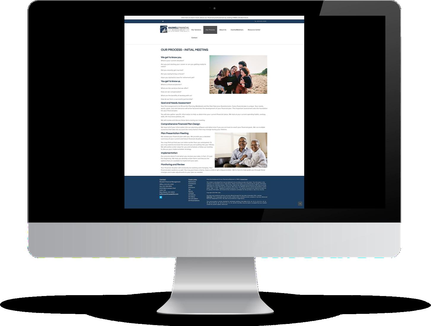 template-based advisor website