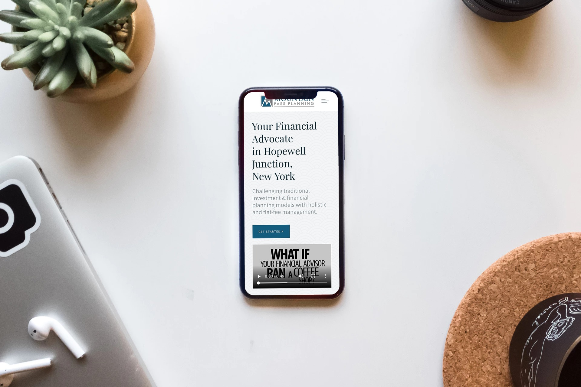 mobile-friendly financial advisor website