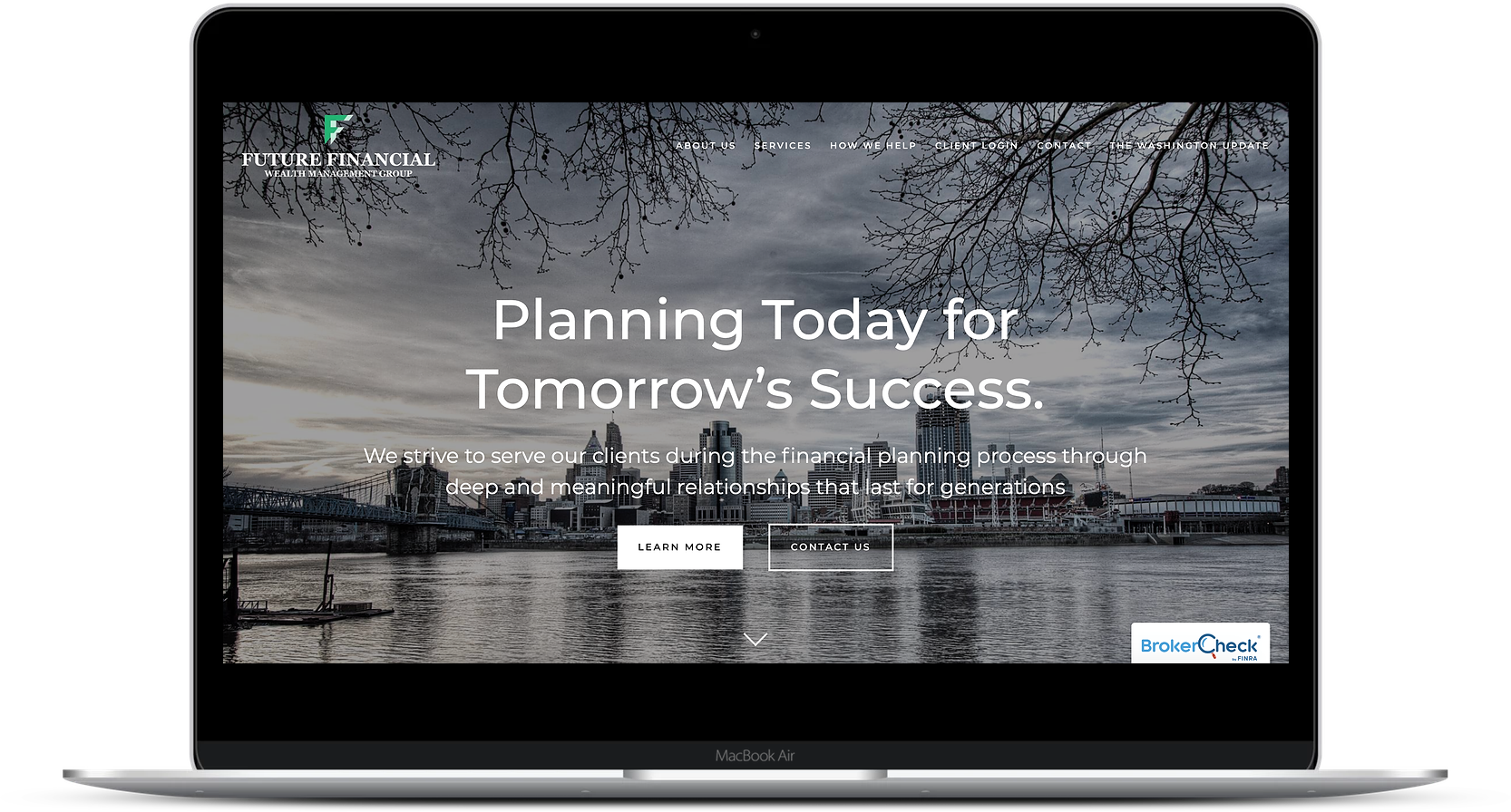 financial advisor website cta example future financial wealth management