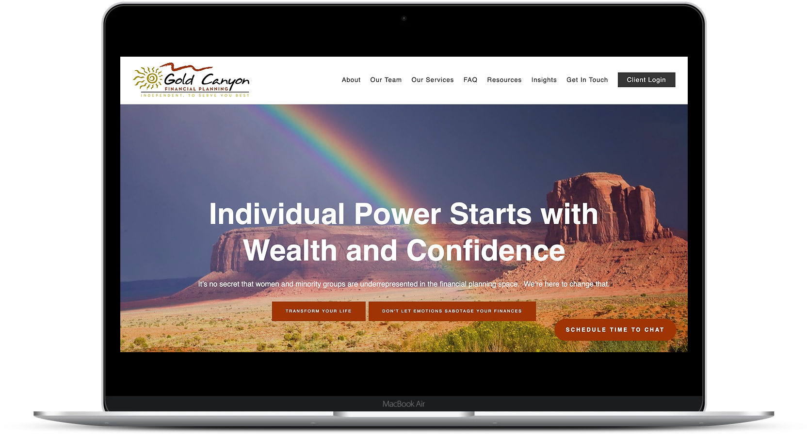 financial advisor website cta gold canyon financial planning