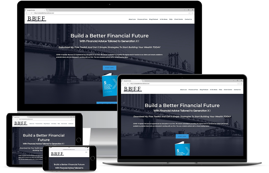 build a better financial future financial advisor website