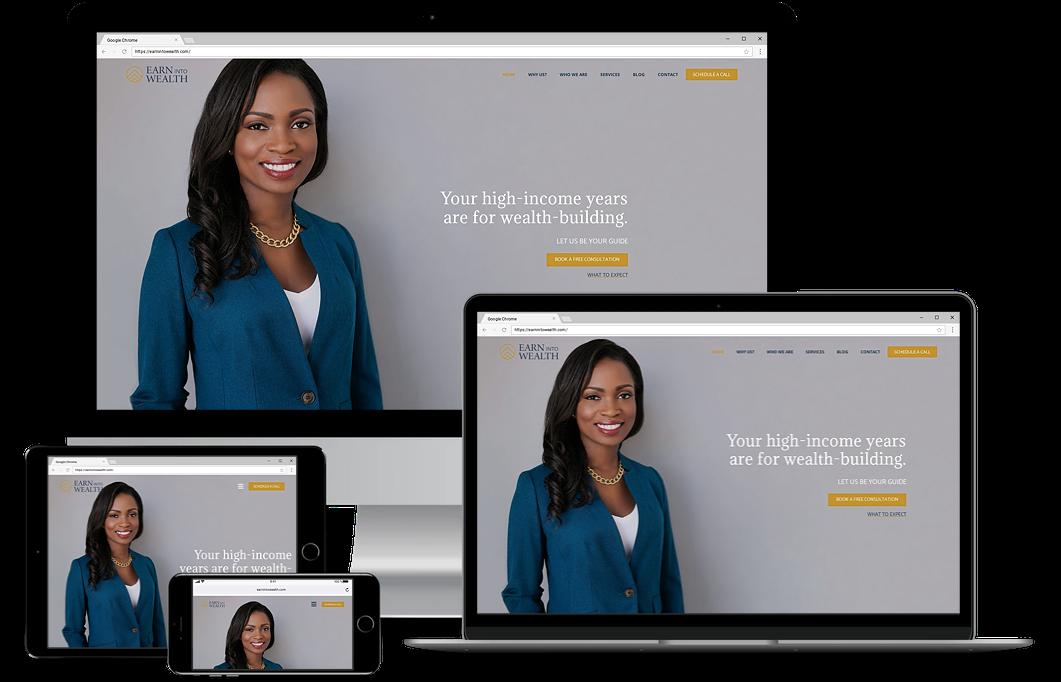 earn into wealth financial advisor website