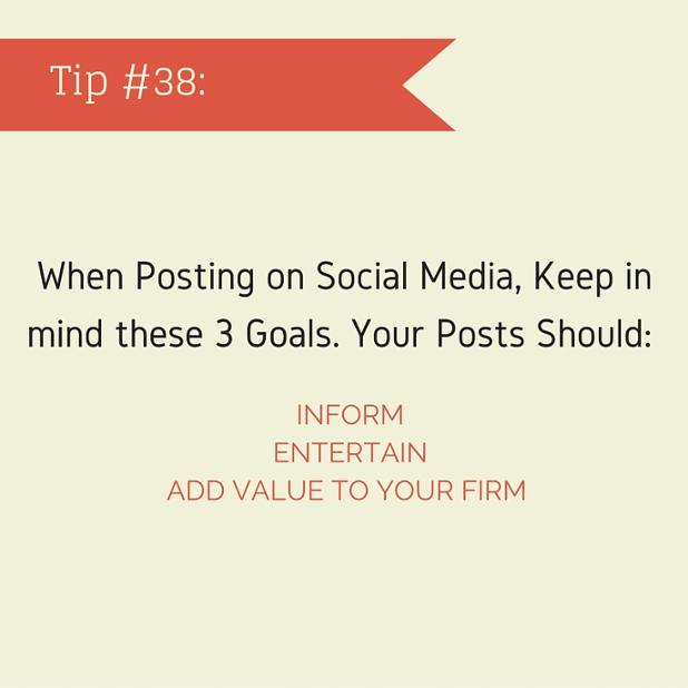 3 Goals for Posting on Social Media: Posts Should Inform, Entertain, and Add Value