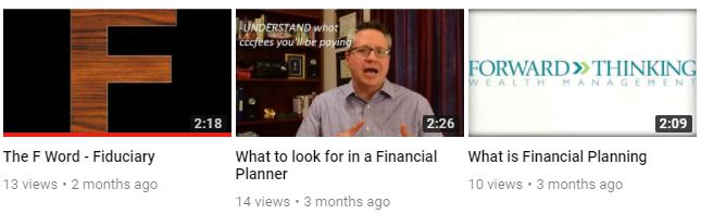 Forward Thinking wealth management youtube