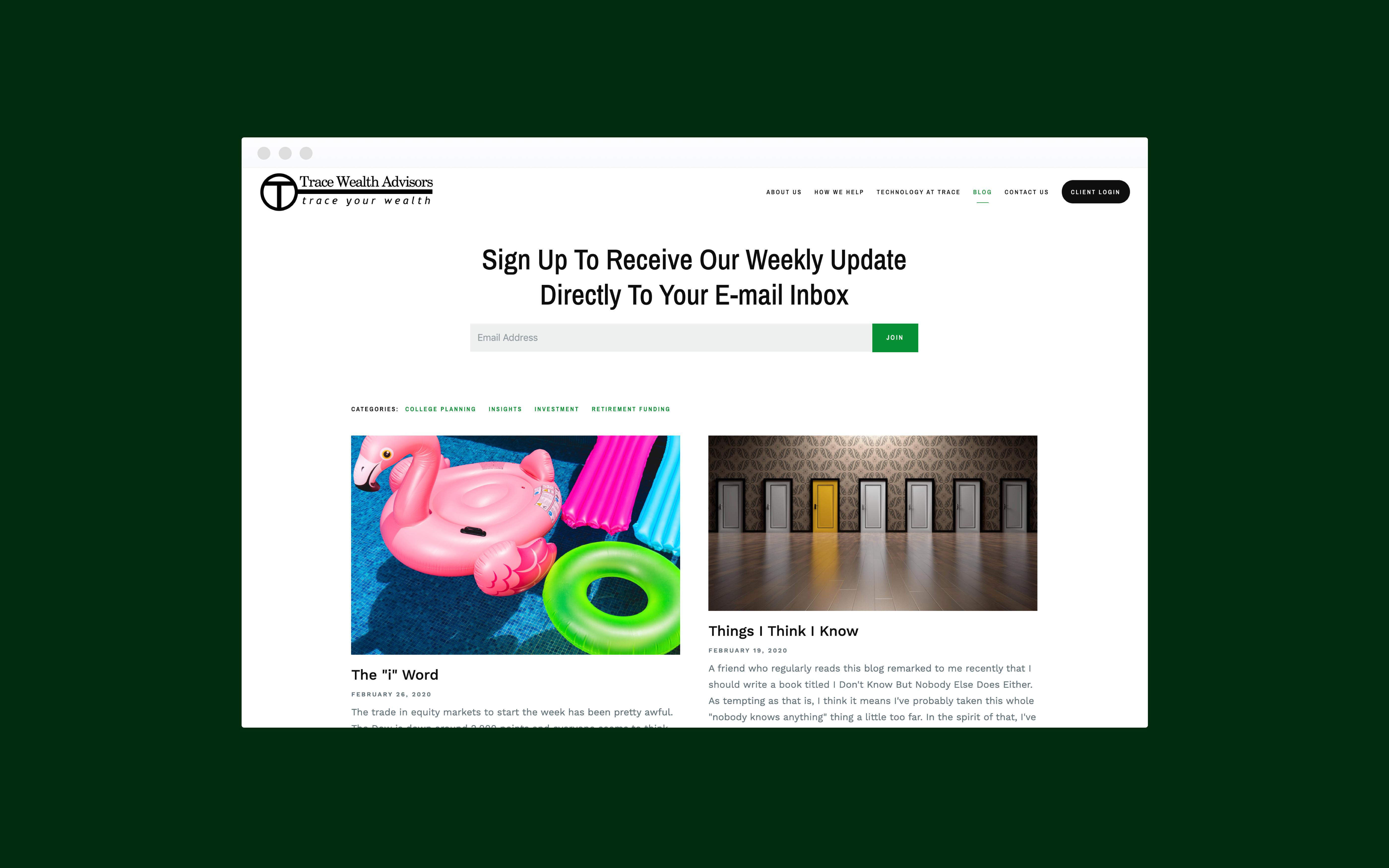 Trace Wealth Advisors blog