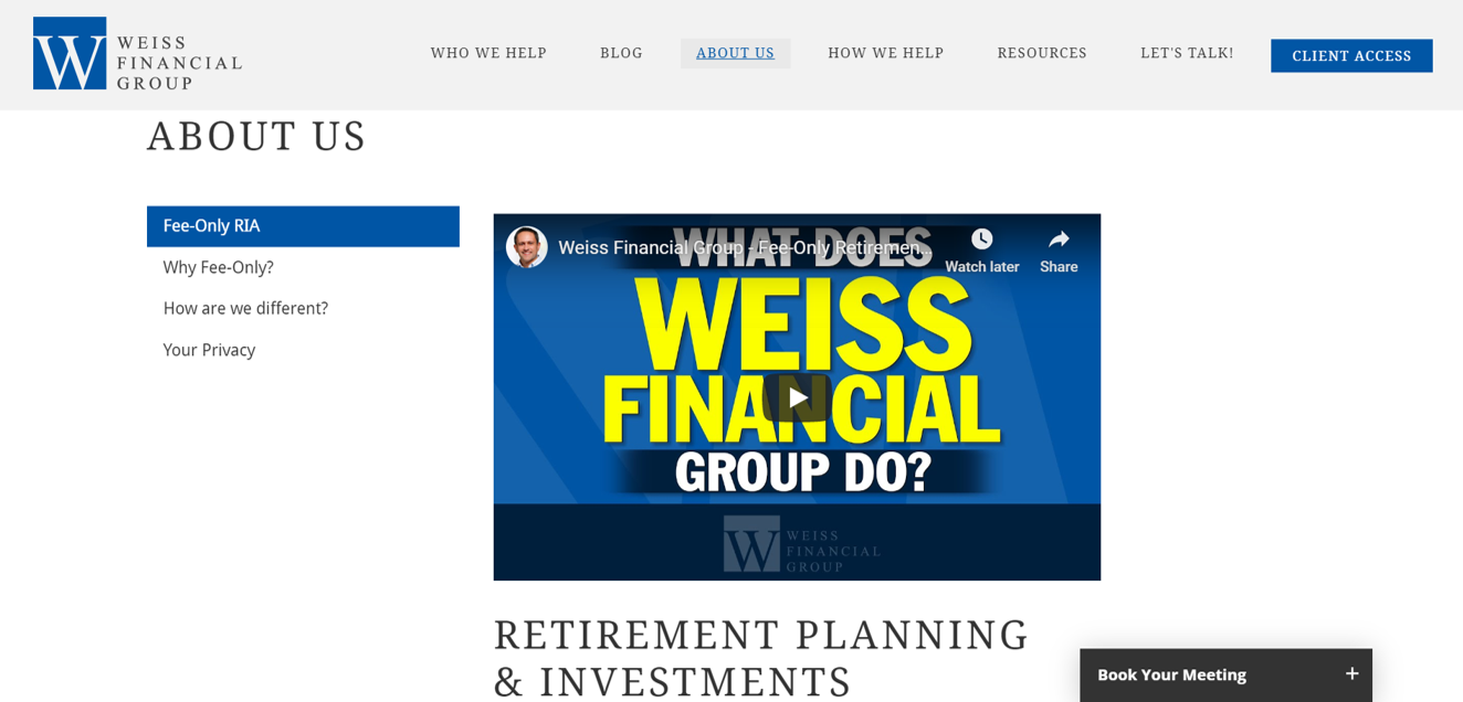 weiss financial group about us video
