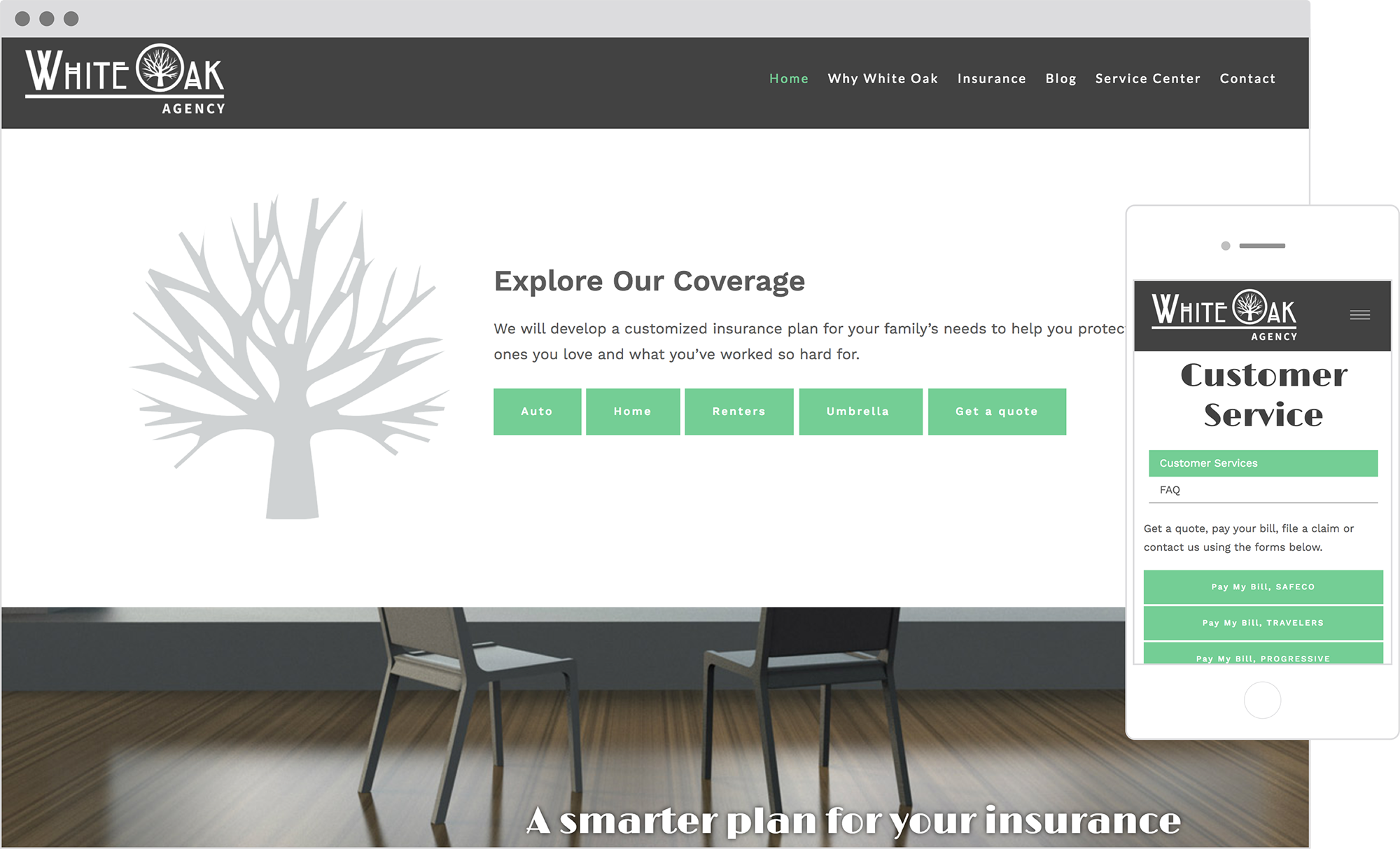 best advisor websites: white oak agency